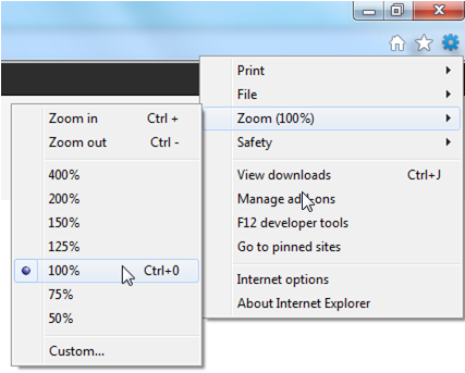 IE9 Zoom